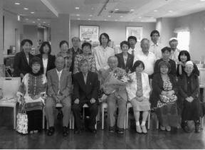 講師の菊田守氏を囲んで 会員の皆様